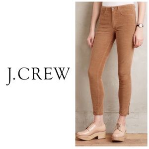 J Crew Anke Zipper Camel Corduroy Jeans 👖